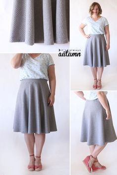 Easy half circle skirt sewing tutorial - no zippers, no buttons, just a cute, easy skirt! How to sew a half circle skirt. Skirt Patterns Sewing, Sewing Patterns Free, Free Sewing, Skirt Sewing, Coat Patterns, Blouse Patterns, Clothes Patterns, Hand Sewing, Circle Skirt Pattern
