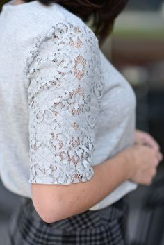 Lace top via @mystyl