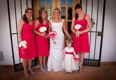 Kirsty & her beautiful bridesmaids, in the Algarve, #Portugal