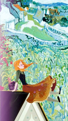 Disney meets Van Gogh...Anna