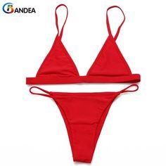 BANDEA new sexy women swimsuit micro bikini set solid swimsuit thong bikini low waist bathing suit swim wear 2017