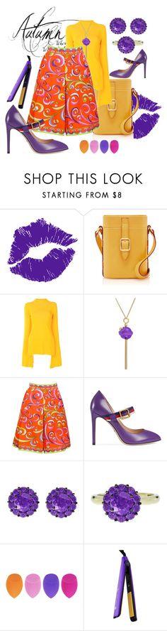 """PURPLE AUTUMN"" by grettelcabrera on Polyvore featuring moda, Solace, Simone I. Smith, Emilio Pucci, Gucci, Color My Life y Royale"