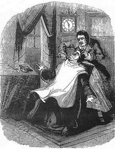 Sweeney Todd, in an illustration from The String of Pearls, the 1846 serial novel.