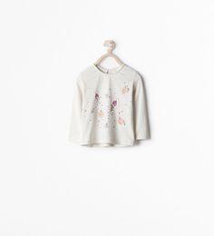 SHIRT MET VOGEL OP TAK-T-shirts-Baby meisje (3 maanden - 3 jaar)-KINDEREN | ZARA Nederland