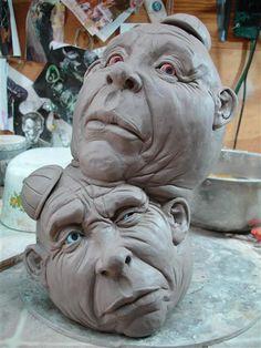 turkey creek pottery-amazing clay faces
