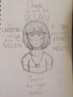 Chara is not the Villain. @Mrtackyjelly