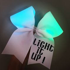 Light It Up Color Changing Light Up Cheer Bow Hair Bow Cheerbow | eBay
