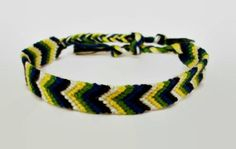 Chevron Pattern Embroidery Macrame Friendship by BraceletsByJen
