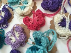 Crochet Butterflies, Hearts and Mini Mandalas from Fran