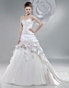 Robe de bal robe de mariée en organza - Robes de Mariage Boutique