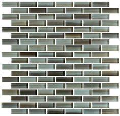 10 Sq Ft Sunset Beach Hand Painted Glass Mosaic Subway Tiles for Bathroom Walls or Kitchen Backsplash