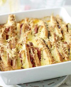 Our recipe for ham and mustard bread and butter bake makes an unusual but delicious dish. Easy Weeknight Meals, Easy Meals, Pork Bacon, South African Recipes, Budget Meals, Food Hacks, Food Tips, Tasty Dishes, Have Time