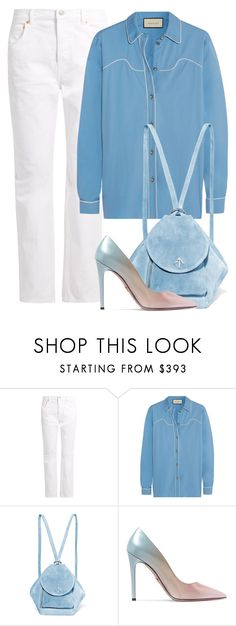 """""""Untitled #1458"""" by bettinakhrn ❤ liked on Polyvore featuring Balenciaga, Gucci, MANU Atelier and Prada"""