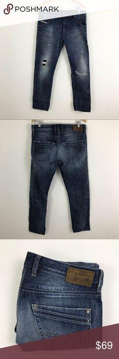 9d18527d Diesel Industry mens Distressed Jeans 32x32 Diesel Industry mens Distressed  Jeans 32x32. Dark wash distressed