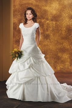 Addison TOTALLY MODEST # 1 choice for Modest Wedding Dresses with sleeves, Bridesmaids and Prom