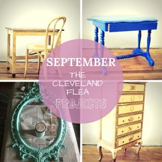 Kathy & Karen of The Salvaged Boutique shares some of the projects they have been working on for the September 2015 The Cleveland Flea event.