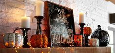 Halloween Mantle. Photo from Pier 1 Imports.