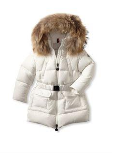 55% OFF Moncler Kid's Fur Trimmed Puffer Coat (Chantilly)