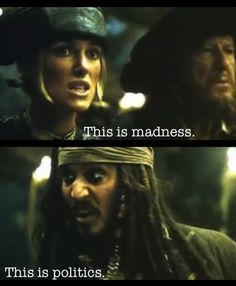 Piarates of the Caribbean Elizabeth Swan and Captain Jack Sparrow
