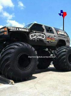 San Antonio Spurs Cake Englan Grover Cakes Pinterest Monster Truck