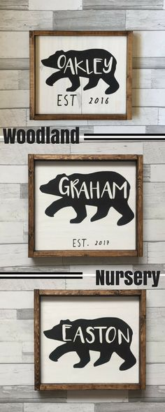Bear name for rustic nursery! Love this! #bear #nursery #decor #walls #baby #boy #est #etsy #ad