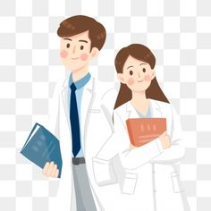 Hospital medical doctors cartoon PNG and PSD