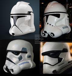 Stormtrooper helmet progression Ep. 2 through 7.