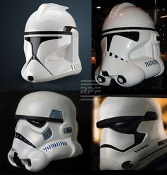 Stormtrooper helmet progression Ep. 2 through 7.