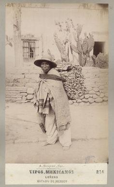 "Retratos fotográficos, ""Tipos mexicanos"", Leñero. México, ca. 1875 Mexico Pictures, Old Pictures, Mexican Art, Mexican Style, Mexico People, Mexican Revolution, Western Caribbean, Rare Images, Mexican Designs"