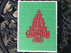 Christmas Tree card Merry Christmas card Handmade by Lufianti