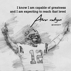 "Latest artpiece hand drawn by Canvarty, featuring Aaron Rodgers #aaronrodgers ""I know I am capable of greatness and I am expecting to reach that level""  #lifequotes #goodquote #goodlife #quotes #quote #words #sayings #wordstoliveby #quotations #onegoodquote #wordsofwisdom #motivation #inspiration #entrepreneur #millionaire #relationships #motivationmafia #relationshipgoals #thegoodquote #thegoodlife #goodlife #goodvibes #mood #positive #teamlove #lovequotes #onegoodquote #luxury #happiness…"