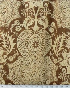 Williamsburg Shalimar Resist Cocoa | Online Discount Drapery Fabrics and Upholstery Fabric Superstore!