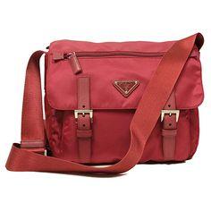 6d4dcd5690f4 Prada Pink Tessuto Pattina Nylon and Leather Crossbody Messenger Bag BT0953  #bolsa #bolso #