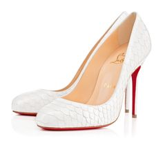 CHRISTIAN LOUBOUTIN Fifi Python Crystal, White, Python, Women Shoes, Louboutin.. #christianlouboutin #shoes #