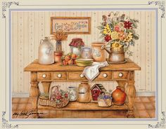 Cozinha - Maria A - Picasa Web Albums Apple Kitchen Decor, Country Kitchen, Kitchen Artwork, Country Art, Country Style, Cute Art, Painting Inspiration, Art For Sale, Scrapbook