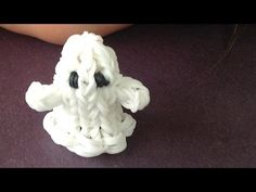 Rainbow Loom Ghost 3D Charm or puppet // How to make with loom bands