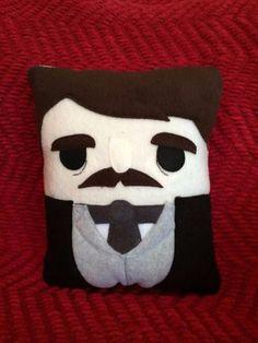 Edgar Allan Poe pillow, plush, cushion, throw pillow