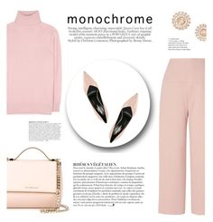 """""""Monochrome, Head to Toe"""" by katsin90 ❤ liked on Polyvore featuring Tomas Maier, L.K.Bennett, Givenchy, Yves Saint Laurent, Nam Cho, Anja and monochrome"""