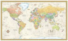30x50 Rand McNally Classic World Wall Map Mural Poster