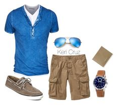 Men's Summer Fashion by keri-cruz on Polyvore featuring Ray-Ban, Old Navy, Sperry Top-Sider and Jimmy Choo