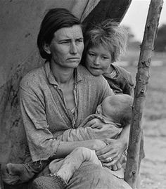 Photo by Dorothea Lange, 1936. Over 10 minutes, Dorothea Lange took took 6 images of Florence and her family.