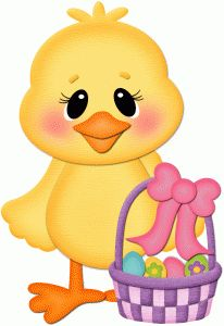 Silhouette Design Store - View Design #56423: chick with easter basket pnc