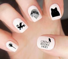 Game of Thrones Nail Decals / Game of Thrones by LoveByLunaCo