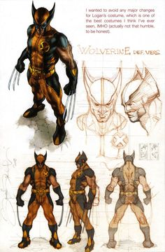 Character Model Sheet Wolverine