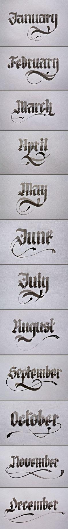Renato Molnar #calligraphy #typography https://www.behance.net/gallery/Calligraphy/4661745