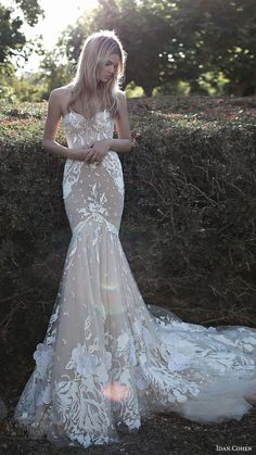 idan cohen bridal 2017 strapless sweetheart mermaid wedding dress (emily mercedes) mv