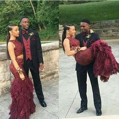 Sexy Two Pieces Prom Dress For Black Women Burgundy/Wine Red Luxury Sparkle Beads Tiered Prom Dresses Party Dress Formal Dress Cheap Prom Dresses Uk, Prom Dresses Under 200, African Prom Dresses, Pretty Prom Dresses, Party Dresses, Beautiful Dresses, Prom Photos, Prom Pictures, Prom Couples