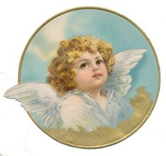 Furniture decals shabby chic french image transfer vintage Angel Face advert sign diy home label scr French Images, Images Vintage, Vintage Postcards, Christmas Angels, Vintage Christmas, Etiquette Vintage, Victorian Angels, Angel Wallpaper, Angel Art