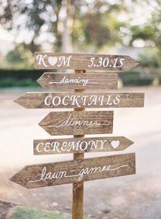 Beautifully designed arrow sign: http://www.stylemepretty.com/2015/08/10/vintage-rustic-whispering-rose-ranch-wedding/ | Photography: Sposto - http://spostophotography.com/