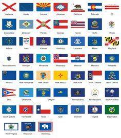 Redesign des drapeaux des 50 etats des etats unis